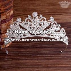 Alloy Crystal Bridal Tiaras Leaf Shaped