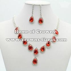 Wholesale Crystal Rhinestone Necklace Set