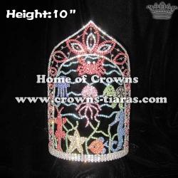 10in Height Wholesale Custom Ocean Summer Crowns