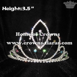 Princess Small Crowns With Colored Diamonds