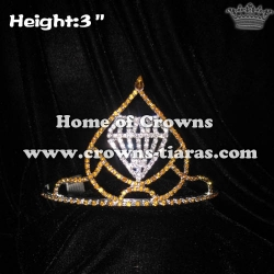 3inch Gold Crystal Crowns With Clear Diamond