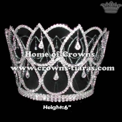 Heart Shaped Full Round Pageant Crowns