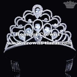 Rhinestone Pageant Crowns With Zircon Diamonds
