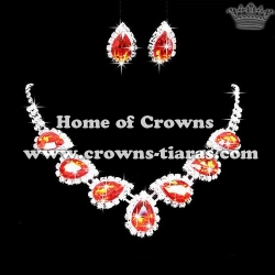 Fashion Crysal Rhinestone Princess Necklace Set