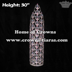 30in Big Tall Wholesale Crystal Pageant Crowns