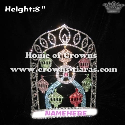 8in Height Crystal Ferris Wheel Pageant Crowns