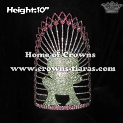 10in Big Crystal Frog Pageant Crowns
