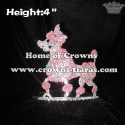 4in Crystal Poodle Pageant Crowns