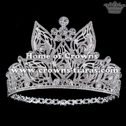 Wholesale Alloy Crystal Pageant Queen Crowns