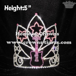 Crystal Guitar Star Shaped Music Pageant Crowns