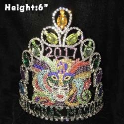 6in Height Custom Crystal Mardi Gras Crowns