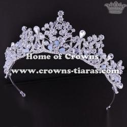 Gorgeous Alloy Wedding Tiaras With Handmade Crystal Beads