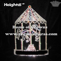 8inch Height Merry Go Horse Design Pageant Crowns