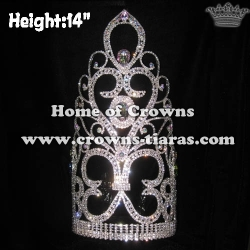 14in Height Large Big Tall Pageant Wholesale Crowns