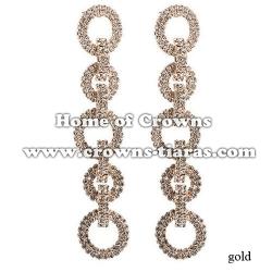 Fashion Rhinestone Bridal Queen Earrings