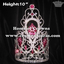 Wholesale 10in Height Stock Crown With Pink Diamonds