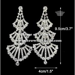 Unique Crystal Rhinestone Bridal Earrings
