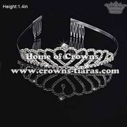 Crystal Heart Shaped Baby Tiaras
