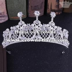 Alloy Crystal Handmade Wedding Queen Crowns