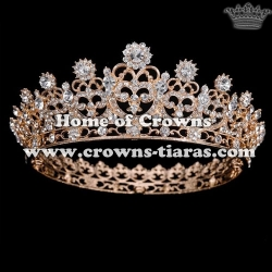 Full Round Crystal Pageant Princess Crowns