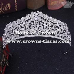 Classic Bridal Tiaras With Crystal Rhinestones