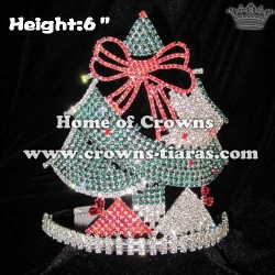 6inch Wholesale Crystal Christmas Tree Pageant Crowns