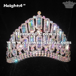 Comfort Band Pageant Crowns With All AB Diamonds