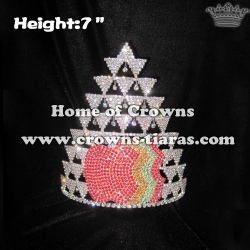 Wholesale Apple Shaped Rhinestone Crowns