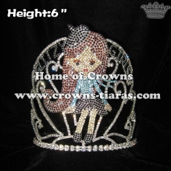 6in Height GLITZY GIRLS Pageant Stock Queen Crowns