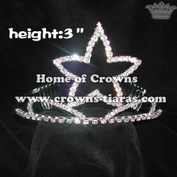 3inch Cheaper Pageant Crowns In Star Shaped