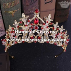 Wholesale Alloy Tiaras With Pink Handmade Crystal Around