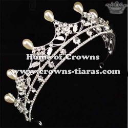 Beauty Simple Wedding Tiaras With Pearls
