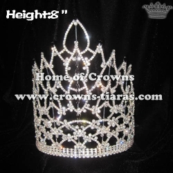8in Black Crystal Pageant Crowns