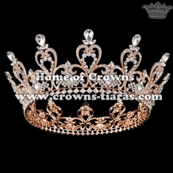 Alloy Crystal Heart Shaped Full Round Queen Crowns