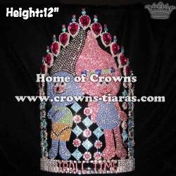 12in Height Custom Trolls Pageant Crowns