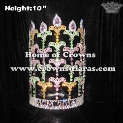 10inch Fleur De Lis Crystal Pageant Crowns