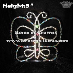 5inch Colorful Butterfly Pageant Crowns