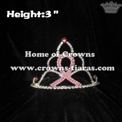 3inch Crystal Ribbon Crowns