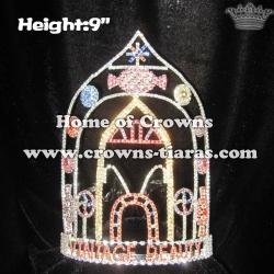 9in Height Rhinestone Lollipops Vintage Beauty Crowns