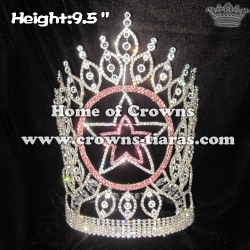 Crystal Star Shaped Custom Queen Pageant Crowns