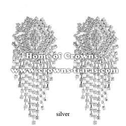 Fashion Rhinestone Party Queen Earrings