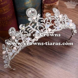 Unique Handmade Bridal Tiaras With Pink Diamond