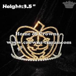 Gold Crystal Pumpkin Halloween Crowns