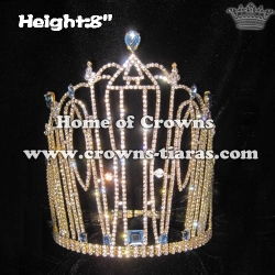 8in Crystal Rhinestone Pageant Crowns