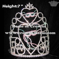 7inch Wholesale Mardi Gras Pageant Crowns