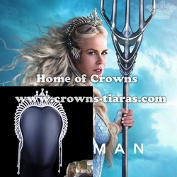 Rhinestone Aquaman Queen Crown Rhinestone Trident Crowns