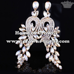 Large Long Crystal Diamond Fashion Earrings