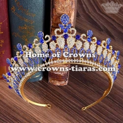 Crystal Pageant Crowns With Diamond In Baroque Style