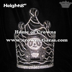 Smart Panda Crystal Pageant Crowns In 8in Height
