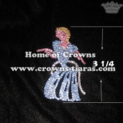 Crystal Cinderella Pageant Pins